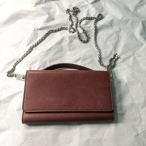 Rick Owens brown leather wallet chain new no tags